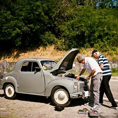 vecchia auto - old car fiat topolino - Kodak Portra 160 NC