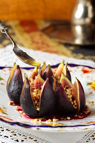 Fichi col Miele, Mandorle e Spezie - Figs with Honey, Almonds and Spices