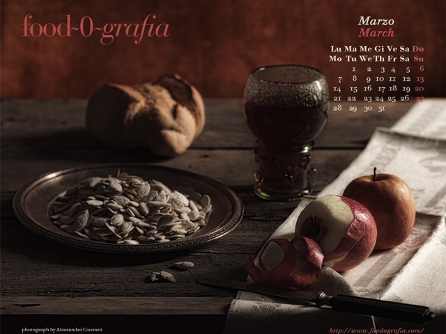 Marzo 2011 Calendario Desktop