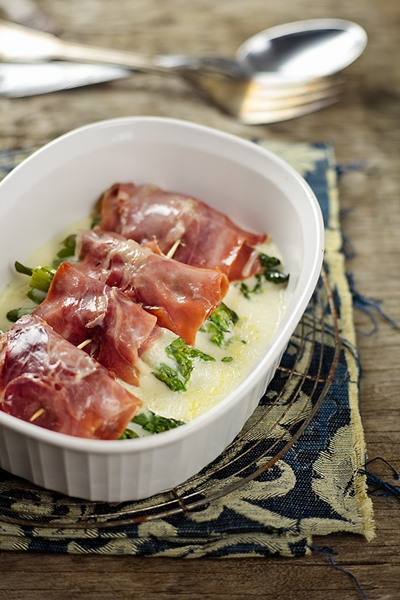 Involtini di Prosciutto e Asparagi - Parma Prosciutto and Asparagus Rolls