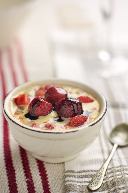 Ricotta Custard with Strawberries