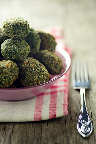 Polpettine di Spinaci - Spinach Meatballs