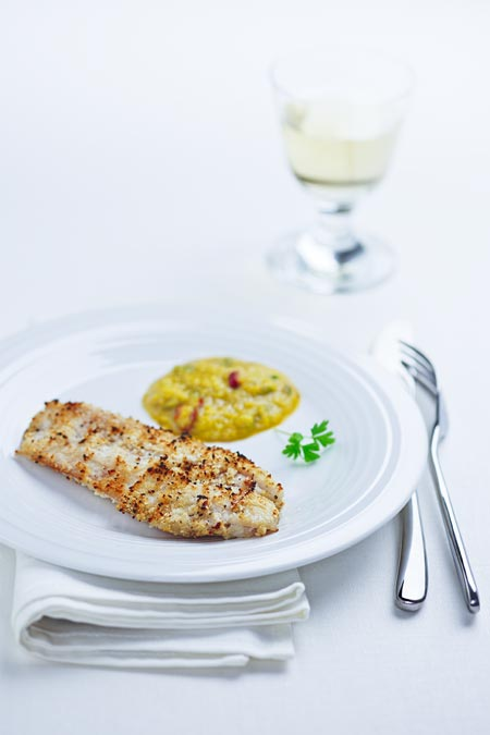 Grilled Sole with Mango Sauce