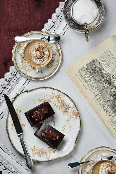 Guerani Sacher with melange